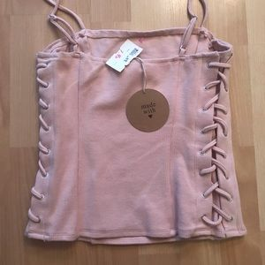 NWT Lace up tank